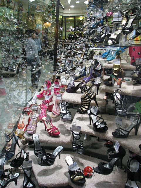 Window Shopping For Shoes In Tlaxcala